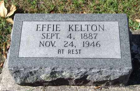 KELTON, EFFIE - Garland County, Arkansas | EFFIE KELTON - Arkansas Gravestone Photos