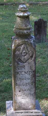 KEMP, SIM L. - Garland County, Arkansas | SIM L. KEMP - Arkansas Gravestone Photos
