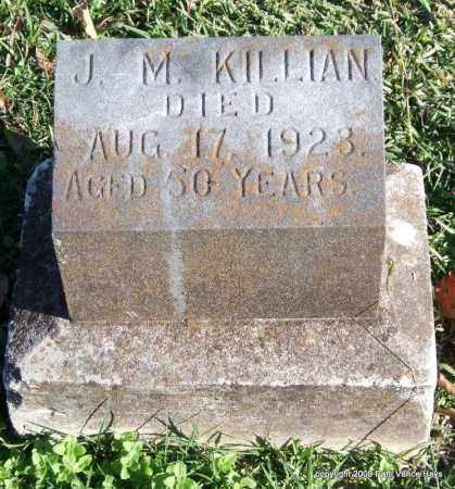 KILLIAN, J. M. - Garland County, Arkansas | J. M. KILLIAN - Arkansas Gravestone Photos