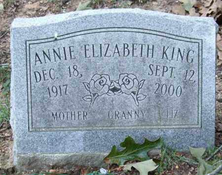 KING, ANNIE ELIZABETH - Garland County, Arkansas | ANNIE ELIZABETH KING - Arkansas Gravestone Photos