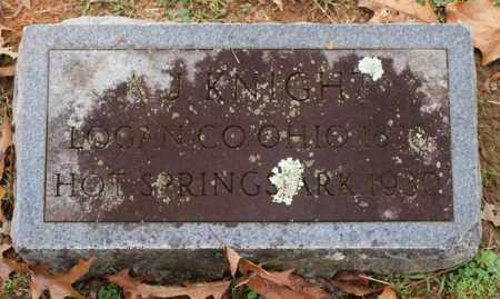 KNIGHT, ALBERT J. - Garland County, Arkansas | ALBERT J. KNIGHT - Arkansas Gravestone Photos