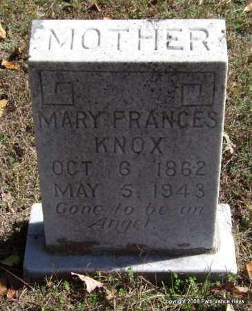 KNOX, MARY FRANCES - Garland County, Arkansas | MARY FRANCES KNOX - Arkansas Gravestone Photos
