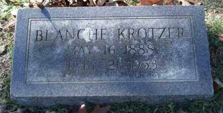 KROTZER, BLANCHE - Garland County, Arkansas | BLANCHE KROTZER - Arkansas Gravestone Photos