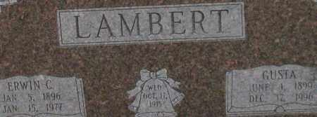 LAMBERT, ERWIN C. (CLOSE UP) - Garland County, Arkansas | ERWIN C. (CLOSE UP) LAMBERT - Arkansas Gravestone Photos