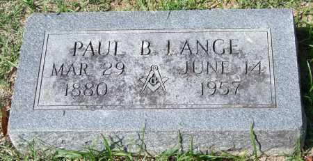 LANGE, PAUL B. - Garland County, Arkansas | PAUL B. LANGE - Arkansas Gravestone Photos
