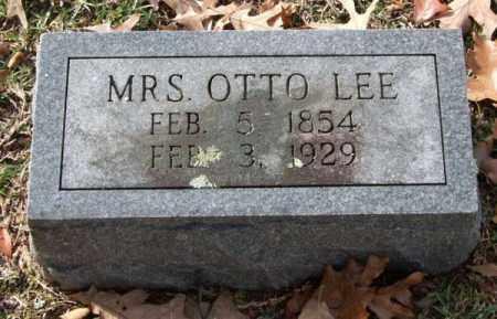 LEE, OTTO (MRS.) - Garland County, Arkansas | OTTO (MRS.) LEE - Arkansas Gravestone Photos