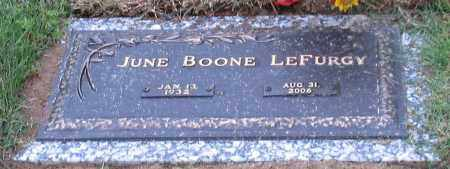 BOONE LEFURGY, JUNE - Garland County, Arkansas | JUNE BOONE LEFURGY - Arkansas Gravestone Photos