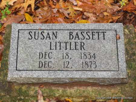 BASSETT LITTLER, SUSAN - Garland County, Arkansas | SUSAN BASSETT LITTLER - Arkansas Gravestone Photos