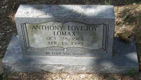 LOMAX, ANTHONY LOVEJOY - Garland County, Arkansas | ANTHONY LOVEJOY LOMAX - Arkansas Gravestone Photos