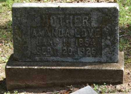 LOVE, AMANDA - Garland County, Arkansas | AMANDA LOVE - Arkansas Gravestone Photos