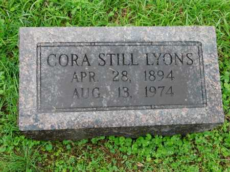 STILL LYONS, CORA - Garland County, Arkansas | CORA STILL LYONS - Arkansas Gravestone Photos