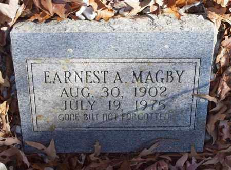 MAGBY, EARNEST A. - Garland County, Arkansas | EARNEST A. MAGBY - Arkansas Gravestone Photos