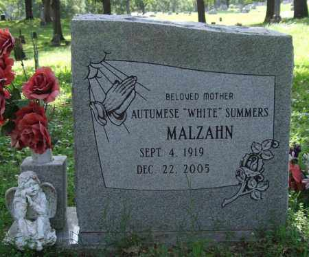 "MALZAHN, AUTUMESE ""WHITE"" SUMMERS - Garland County, Arkansas 
