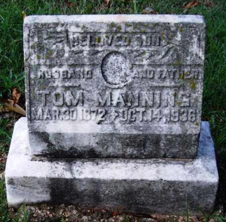 MANNING, TOM - Garland County, Arkansas | TOM MANNING - Arkansas Gravestone Photos