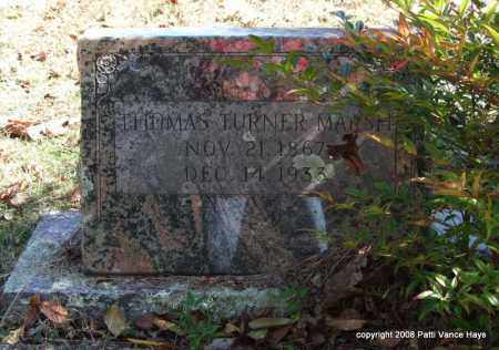 MARSH, THOMAS TURNER - Garland County, Arkansas | THOMAS TURNER MARSH - Arkansas Gravestone Photos