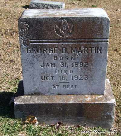 MARTIN, GEORGE D. - Garland County, Arkansas | GEORGE D. MARTIN - Arkansas Gravestone Photos