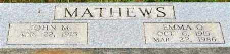 MATHEWS, EMMA O. - Garland County, Arkansas | EMMA O. MATHEWS - Arkansas Gravestone Photos