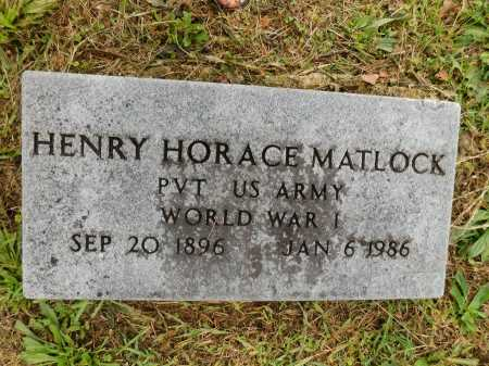 MATLOCK (VETERAN WWI), HENRY HORACE - Garland County, Arkansas | HENRY HORACE MATLOCK (VETERAN WWI) - Arkansas Gravestone Photos