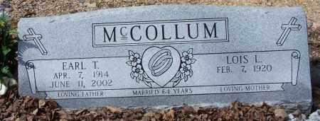 MCCOLLUM, EARL T. - Garland County, Arkansas | EARL T. MCCOLLUM - Arkansas Gravestone Photos