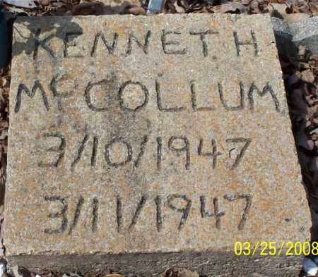 MCCOLLUM, KENNETH H - Garland County, Arkansas | KENNETH H MCCOLLUM - Arkansas Gravestone Photos