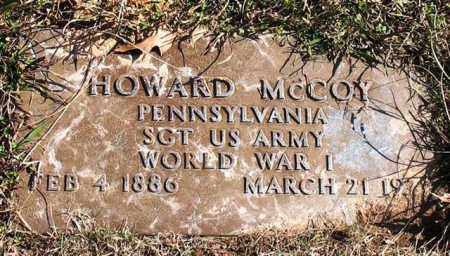 MCCOY (VETERAN WWI), HOWARD - Garland County, Arkansas | HOWARD MCCOY (VETERAN WWI) - Arkansas Gravestone Photos
