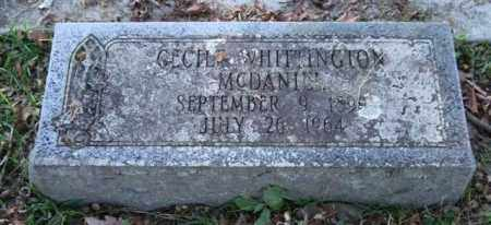 MCDANIEL, CECILE - Garland County, Arkansas | CECILE MCDANIEL - Arkansas Gravestone Photos
