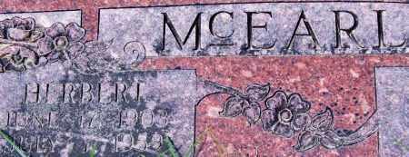 MCEARL, HERBERT (CLOSE UP) - Garland County, Arkansas | HERBERT (CLOSE UP) MCEARL - Arkansas Gravestone Photos