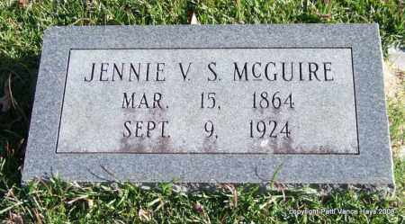 MCGUIRE, JENNIE V. S. - Garland County, Arkansas | JENNIE V. S. MCGUIRE - Arkansas Gravestone Photos