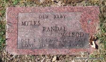 MCLEOD, MYLES RANDAL - Garland County, Arkansas | MYLES RANDAL MCLEOD - Arkansas Gravestone Photos
