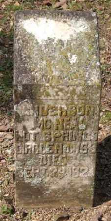 MCNEAL, ANDERSON - Garland County, Arkansas | ANDERSON MCNEAL - Arkansas Gravestone Photos