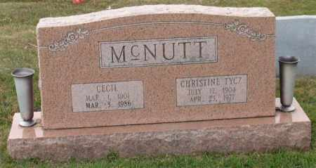 MCNUTT, CECIL - Garland County, Arkansas | CECIL MCNUTT - Arkansas Gravestone Photos