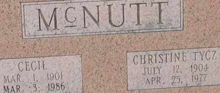 TYCZ MCNUTT, CHRISTINE (CLOSE UP) - Garland County, Arkansas | CHRISTINE (CLOSE UP) TYCZ MCNUTT - Arkansas Gravestone Photos