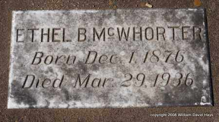 MCWHORTER, ETHEL B. - Garland County, Arkansas | ETHEL B. MCWHORTER - Arkansas Gravestone Photos
