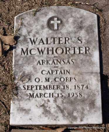 MCWHORTER (VETERAN), WALTER S. - Garland County, Arkansas | WALTER S. MCWHORTER (VETERAN) - Arkansas Gravestone Photos