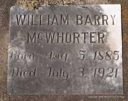 MCWHORTER, WILLIAM BARRY - Garland County, Arkansas | WILLIAM BARRY MCWHORTER - Arkansas Gravestone Photos