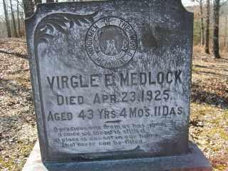 MEDLOCK, VIRGLE E. - Garland County, Arkansas | VIRGLE E. MEDLOCK - Arkansas Gravestone Photos