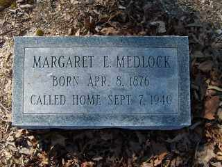 MEDLOCK, MARGARET E. - Garland County, Arkansas | MARGARET E. MEDLOCK - Arkansas Gravestone Photos
