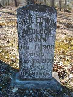 MEDLOCK, PAUL EDWIN - Garland County, Arkansas | PAUL EDWIN MEDLOCK - Arkansas Gravestone Photos