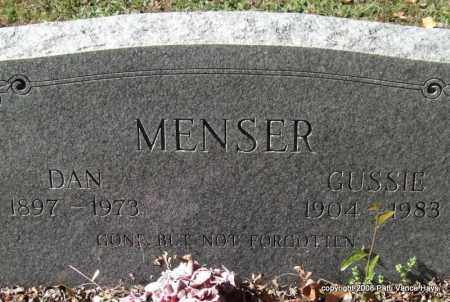 MENSER, GUSSIE - Garland County, Arkansas | GUSSIE MENSER - Arkansas Gravestone Photos