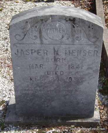 MENSER, JASPER N. - Garland County, Arkansas | JASPER N. MENSER - Arkansas Gravestone Photos