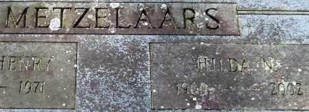 METZELAARS, HILDA N. - Garland County, Arkansas | HILDA N. METZELAARS - Arkansas Gravestone Photos