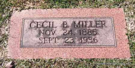 MILLER, CECIL B. - Garland County, Arkansas | CECIL B. MILLER - Arkansas Gravestone Photos
