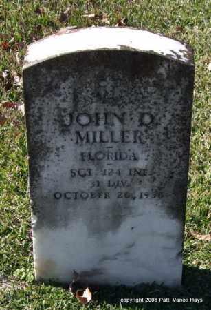 MILLER (VETERAN), JOHN D - Garland County, Arkansas | JOHN D MILLER (VETERAN) - Arkansas Gravestone Photos