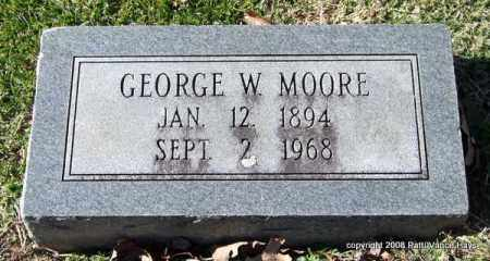 MOORE, GEORGE W. - Garland County, Arkansas | GEORGE W. MOORE - Arkansas Gravestone Photos