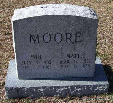 MOORE, MATTIE - Garland County, Arkansas | MATTIE MOORE - Arkansas Gravestone Photos