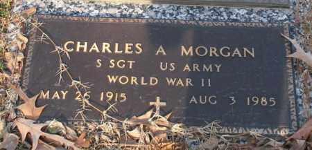 MORGAN (VETERAN WWII), CHARLES A - Garland County, Arkansas | CHARLES A MORGAN (VETERAN WWII) - Arkansas Gravestone Photos