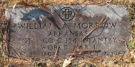 MORROW (VETERAN WWI), WILLIAM A - Garland County, Arkansas | WILLIAM A MORROW (VETERAN WWI) - Arkansas Gravestone Photos