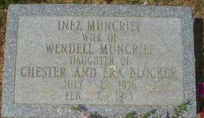 BLOCKER MUNCRIEF, INEZ - Garland County, Arkansas | INEZ BLOCKER MUNCRIEF - Arkansas Gravestone Photos