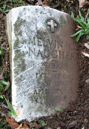 NAUGHER (VETERAN), MELVIN C - Garland County, Arkansas | MELVIN C NAUGHER (VETERAN) - Arkansas Gravestone Photos