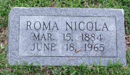 NICOLA, ROMA - Garland County, Arkansas | ROMA NICOLA - Arkansas Gravestone Photos